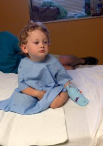 He was dehydrated and exhausted, and that IV mitten was the most pitiful thing.